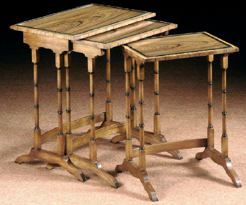 Rosewood Regency Style Nest of Tables.