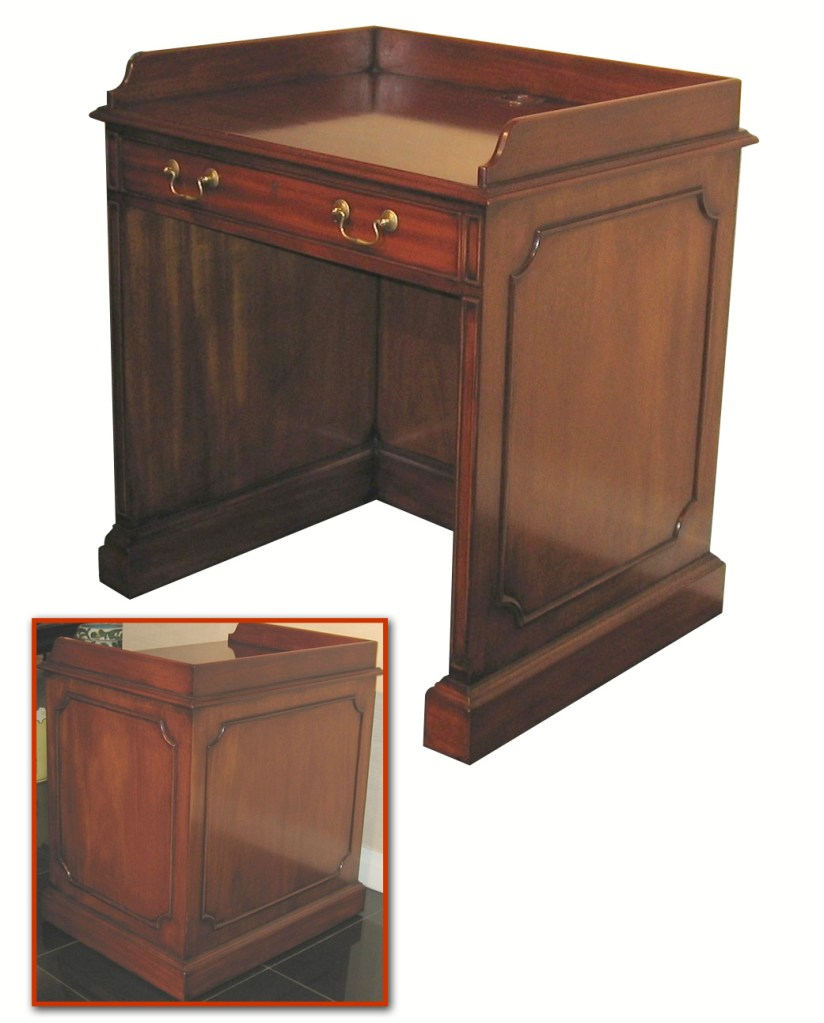 Chippendale Style Mahogany Computer Station