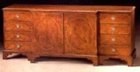 Mahogany 18th Century Style Credenza.