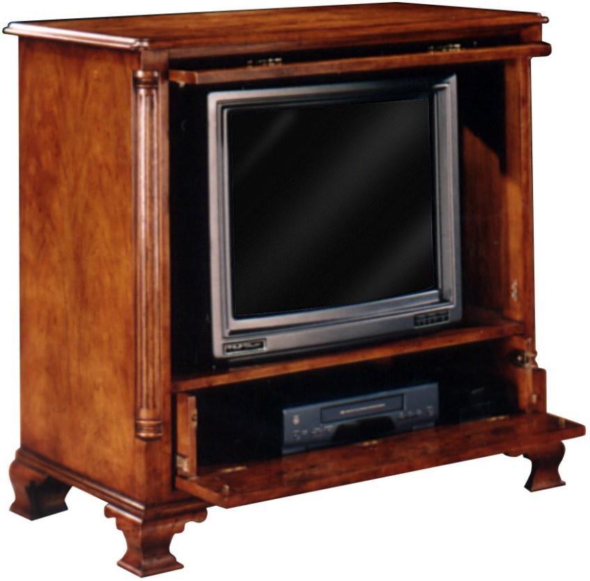 Burr Walnut Georgian Style Television Cabinet