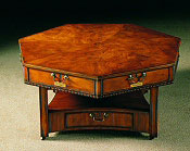 """Mahogany Chippendale Style """"Rent"""" Coffee Table."""