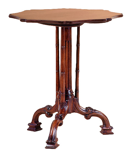 Mahogany Chippendale Style Tripod Table.