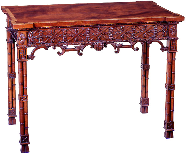 Chinese Chippendale Style Silver Table