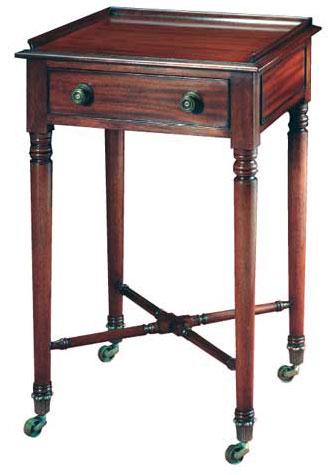 Regency Style Mahogany Bedside Table.