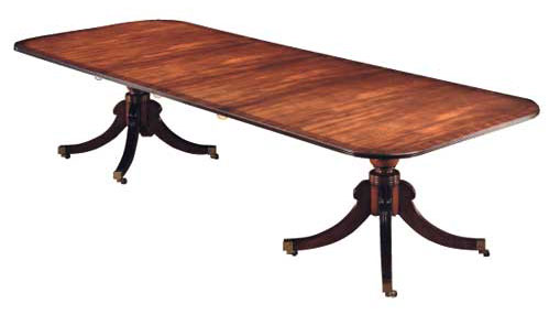 Regency Style Extending Mahogany Table.