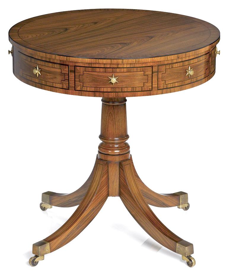 Regency Style Rosewood Drum Table