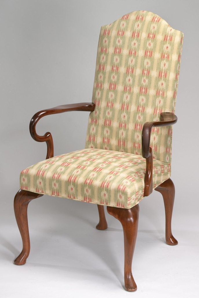 Upholstered Queen Anne Style Chair.