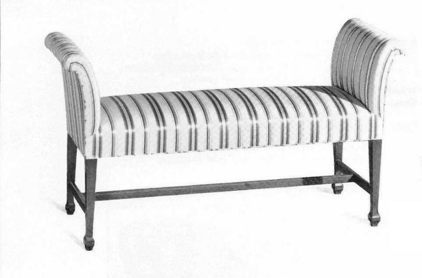 Sheraton Style Mahogany Bench