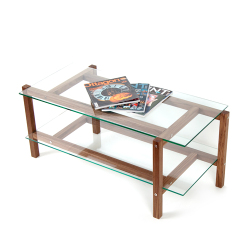 more pictures for kruis coffee table massive walnut wood glass