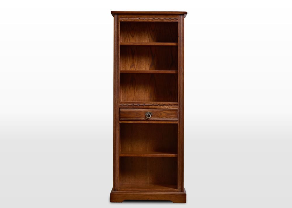 Old Charm Narrow Bookcase Wood Bros