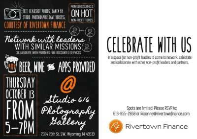 Rivertown Finance Invitation and Christmas Cards
