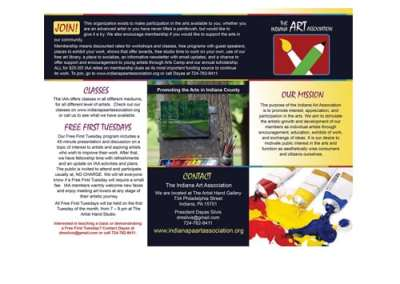 Indiana Art Association Brochure