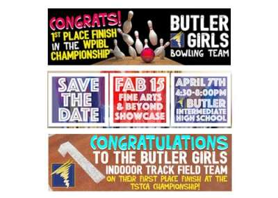 Butler High School Billboard Designs