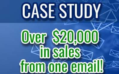 OVER $20,000 IN SALES FROM ONE EMAIL!