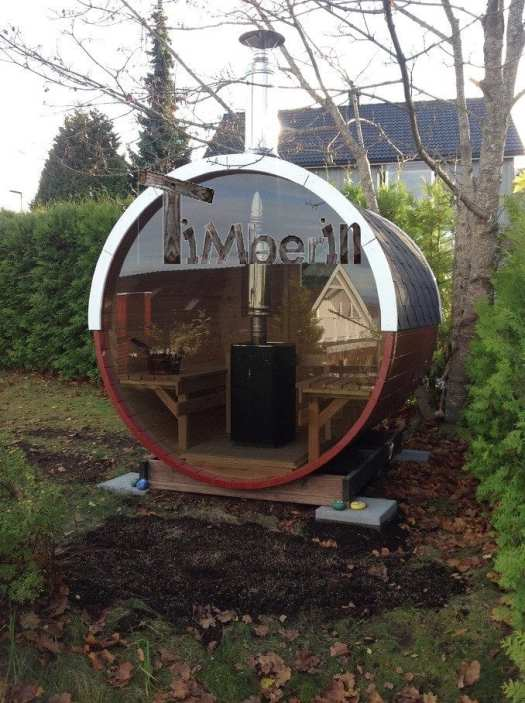 Barrel Sauna With Full Panoramic Window
