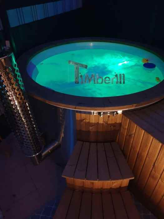Wellness Royal Hot Tub Model With Integrated Heater Thermo Wood