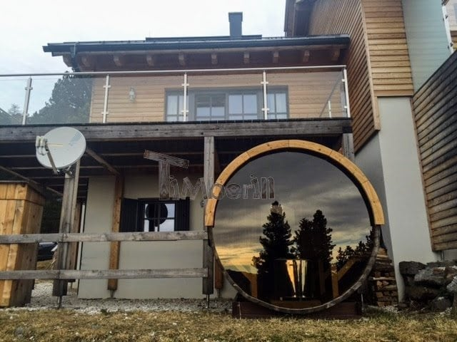 outdoor-sauna-barrel-with-panoramic-window-anthony-uk-austria-1 Outdoor sauna Barrel with panoramic window, Anthony, UK/Austria