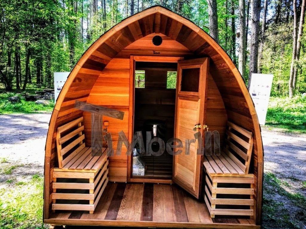 Outdoor-Garten-Holz-Sauna-Fasssauna-Aussensauna-Rote-Zeder-Mit-Elektroheizung-Und-Veranda-19 Finished projects