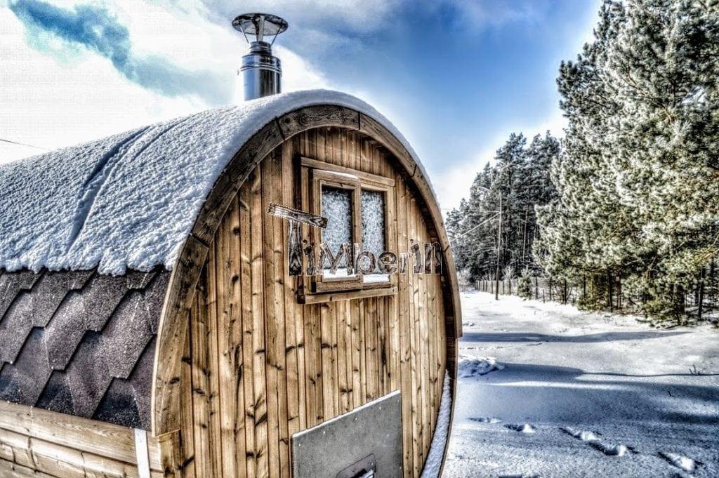 garden-wooden-barrel-sauna-Scotland Finished projects