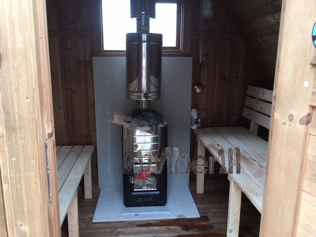 "2-m-small-outdoor-sauna-iglu-with-wood-fired-harvia-heater-peter-hertfordshire-uk 2 m Small Outdoor Sauna Iglu With Wood-Fired ""Harvia"" Heater, Peter, Hertfordshire, UK"