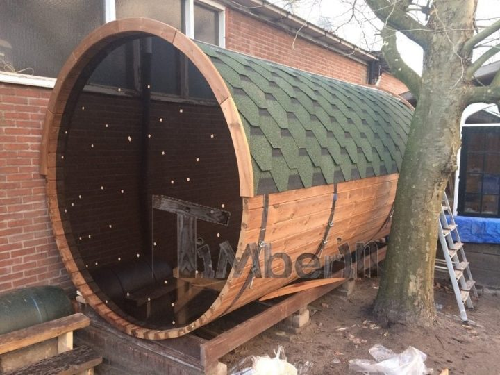 Barrel Sauna 4 M, Thermowood With Full Panorama Glass, Bart , Kaatsheuvel, Netherlands (4)