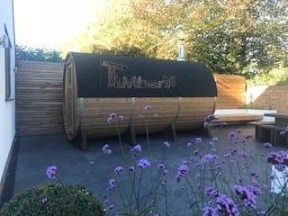 Outdoor Barrel Round Sauna, Heather, Chelmsford, Essex, U (1)