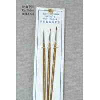 3 Piece Red Sable Brush Set 58B