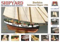 Schooner Berbice 1780 1:72 - Shipyard ZL004 Laser Cardboard Kit
