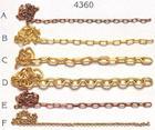 AM4360/06 Amati Brass Chain 5mm 1mtr - D