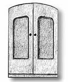 4250/02 Antique Ships Door Metal 15x10mm