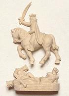 Figureheads-5605 Sovereign of the Seas Figurehead Carved Wood 55mm