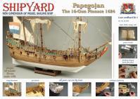 Papegojan 1627 1:72 - Shipyard ZL005 Laser Cardboard Kit