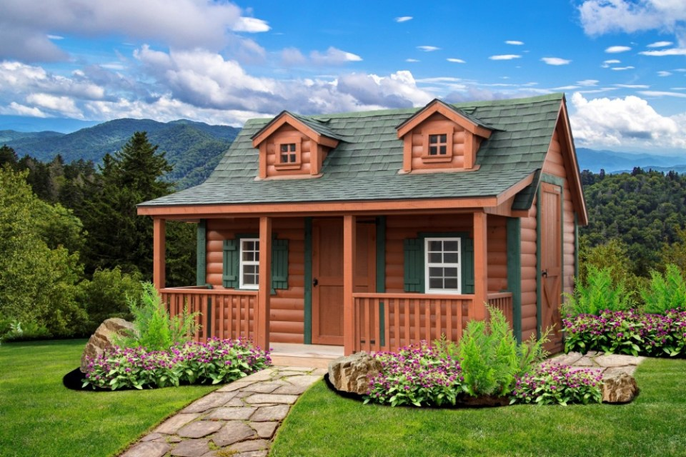 LakeSide Cabins Premier Collection - Log HomeSteader Jr. Playhouse