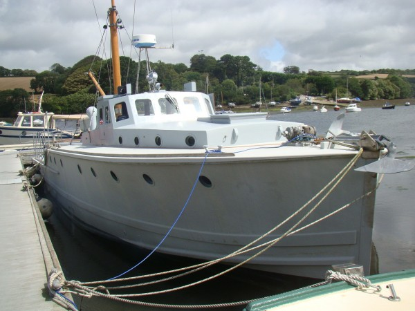 For Sale Admiralty Fast Seagoing Wooden Motorboat