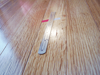 checks visible on face of prefinished floor