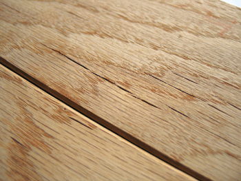 photo of checks in wood flooring
