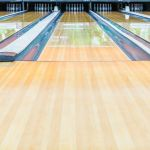 21398091 – bowling alley.with surface polished with wax beautifully.