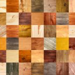 22166881 – collage of different wooden texture