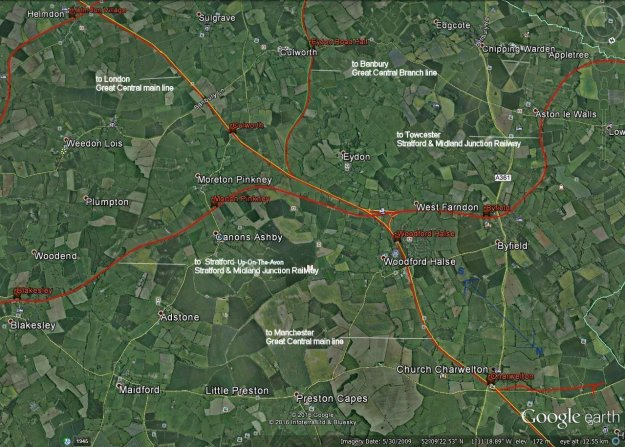 Local Rail Routes on Google Earth