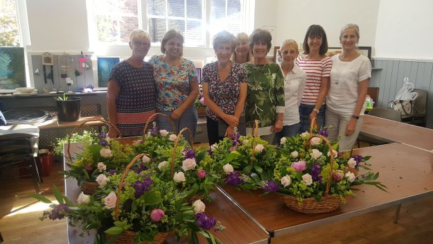Flower Arranging Class in the Cafe