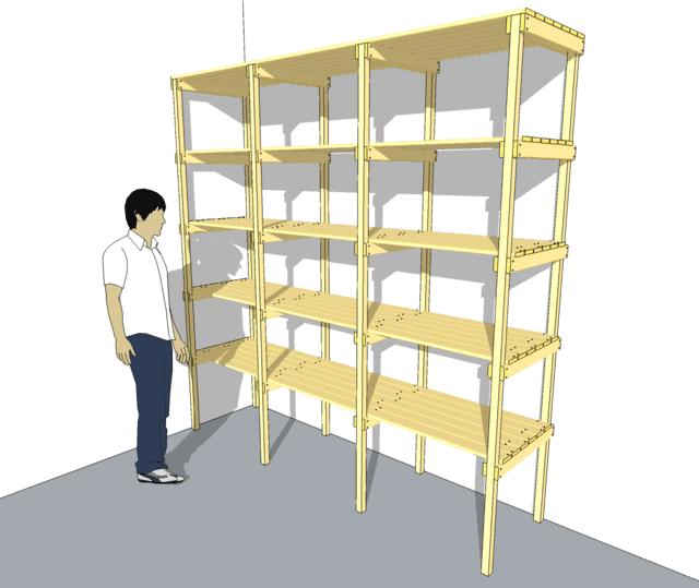 This storage shelf unit is very easy to build out of stock lumber from ...