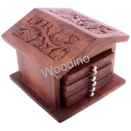 Woodino Hut Design Carving Coaster