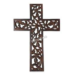 Woodino Wooden Jesus Cross Wall Decor For Chrismas