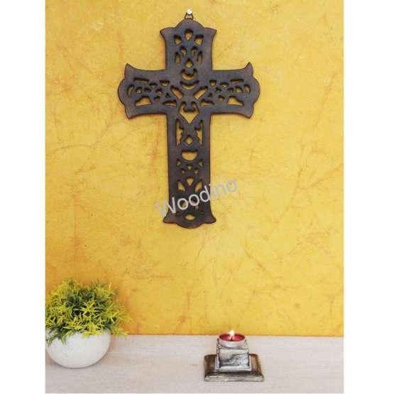 Woodino Wood Cross Antique Wall Hanging
