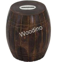 Woodino Handicrafts Dholak Shaped Money Bank