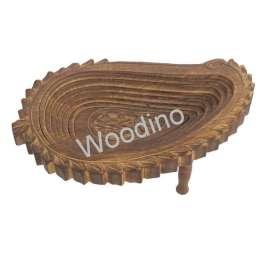 Woodino Mango Wood Antique Folding Spring Tray