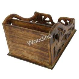 Woodino Antique Mango Wood Latter Rack or Mobile Stand