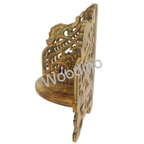 Woodino Mango Wood Small Table Corner Organizer