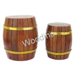 "Woodino Barrel Shape Golden Strip 6x5"" & 5x4"""