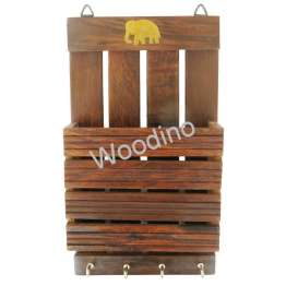 Woodino Cutter Elephant Wall Latter Rack